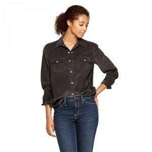 NWT Universal Thread Corduroy Shirt XS Gray